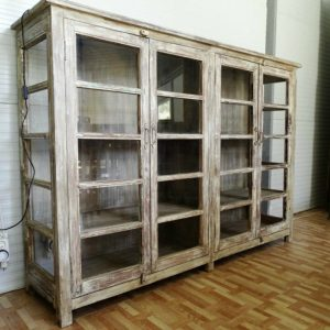 Glass door cupboards