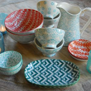 Bowls, plates and cups